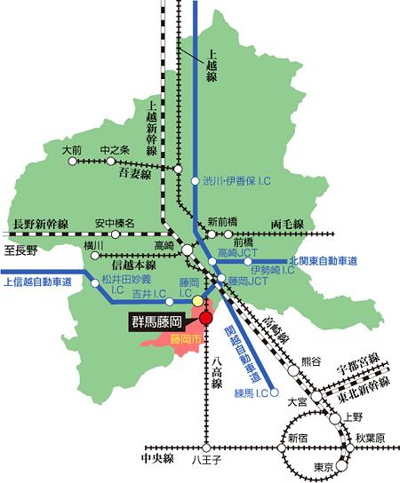 藤岡市 アクセスマップ